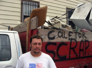 Oscar, one of the scrapmen featured in the documentary film Scrappers.