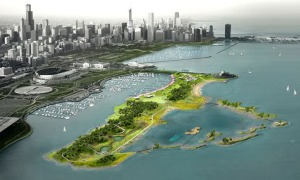 A green vision for Northerly Island is now being implemented on the ground, as part of Chicago's Sustainability 2015 plan