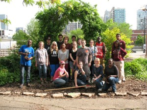 RU students worked at the Chicago Lights Urban Farm for SUST 350 Service & Sustainability (M. Bryson, May 2012)