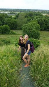 Fellow REU students on the Monks Mound trail