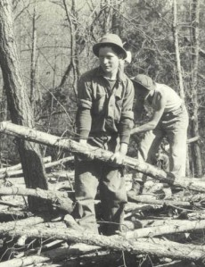 CCC worker at Camp Roosevelt in 1933