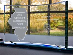 Gov Sust Award trophy