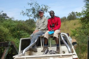 Julian Kerbis Peterhans and Sadic Waswa in Uganda