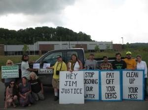 SAMS Protest in southwest VA (B. Quesnell, 2014)