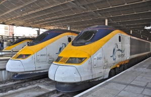 Eurostar High Speed Rail trains