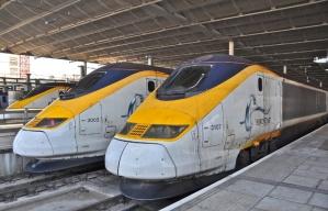 Eurostar High Speed Rail trains