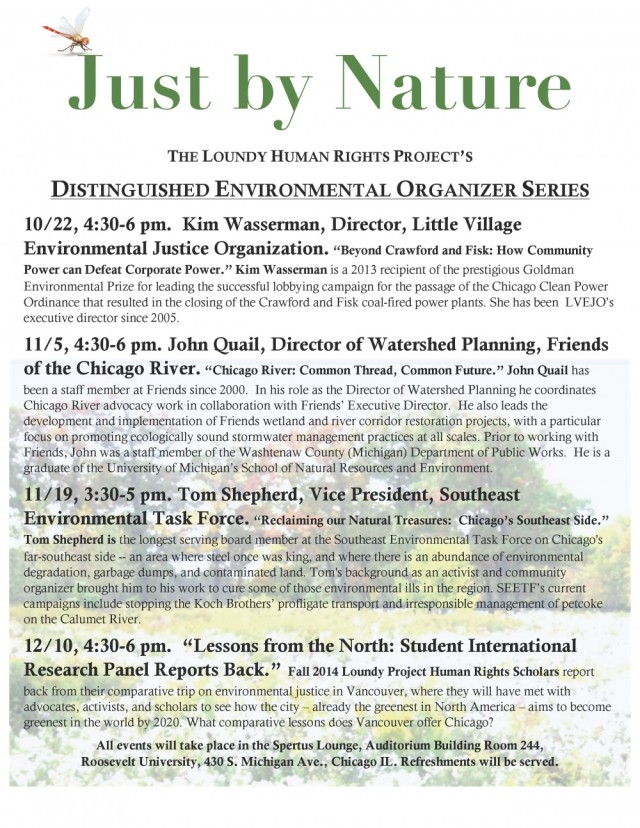 Just by Nature RU Lecture Series F14