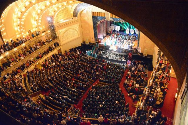 Roosevelt's Auditorium Theatre during the Fall 2014 graduation ceremony