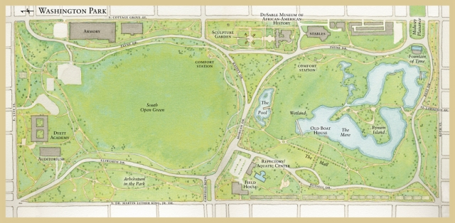 Map of Washington Park, South Side of Chicago
