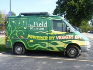 The FMNH's Veggie Oil Van (photo: L. Miller Hill)