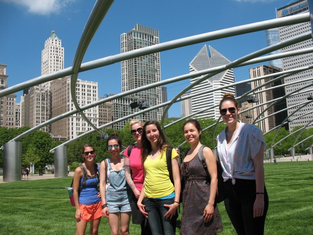 Students in SUST 390 Writing Urban Nature explore Millennium Park, May 2015