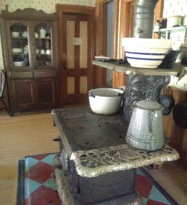 The kitchen that is on the farm in the house that the farmers use. This is an old fashion wood-burning stove. (photo: Jones, 2015)