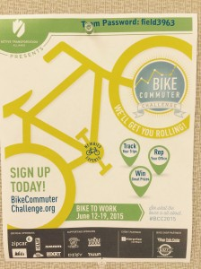 Bike Commuter Challenge Poster Photo: L. Miller Hill