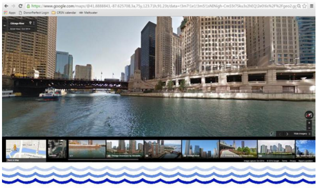 Google Maps Chicago River Street View: View of Friends' McCormick Bridgehouse and Chicago River Museum (source: FCR)