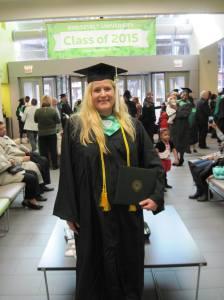 SUST graduate Karen Craig (Dec 2015)