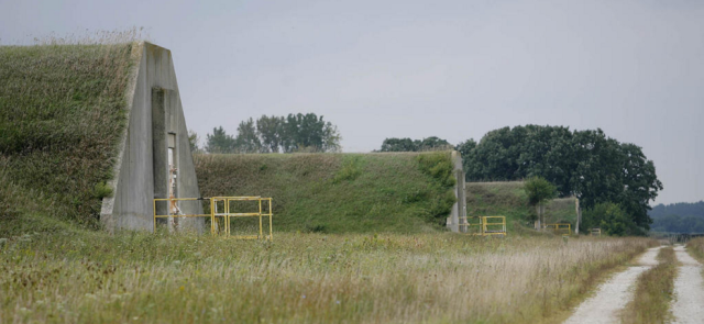 Former TNT storage bunkers at MNTP (source: Chicago Tribune)