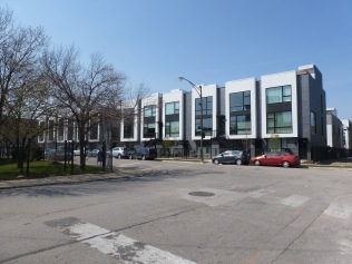 Luxury homes at Curtis Mayfield Avenue, adjacent to the Cabrini rowhomes