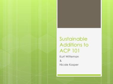 ACP 101 presentation title slide