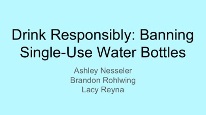 Bottled Water Presentation title slide