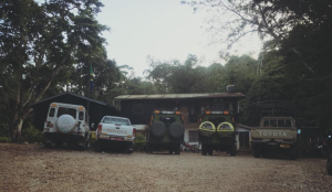 Safari cars at Amani Nature Reserve (photo: A. Kordas)