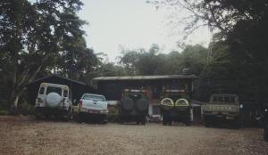 Safari cars at Amani Nature Reserve (photo: A. Kordas)