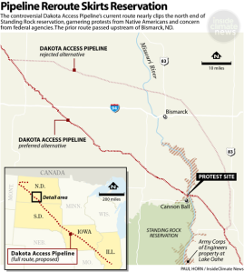 DAPL proposed route by Energy Transfer, Inc. (source: Inside Climate News)